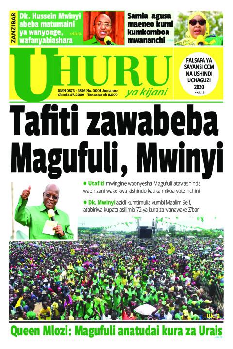 Tafiti zawabeba Magufuli, Mwainyi | Uhuru la Kijani