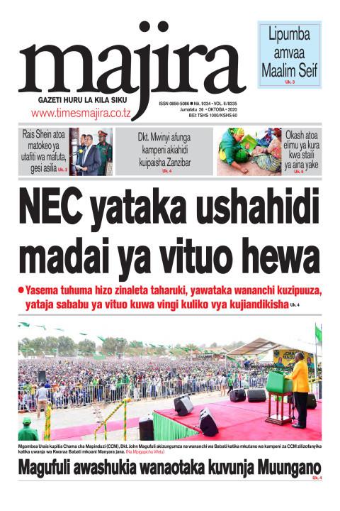 NEC yataka ushahidi madai ya vituo hewa | MAJIRA