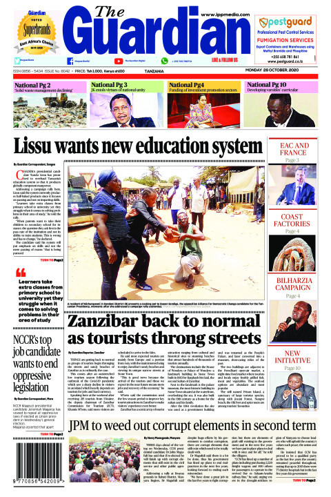 Lissu wants new education system | The Guardian