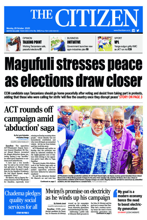 MAGUFULI STRESSES PEACE AS ELECTIONS DRAW CLOSER   | The Citizen