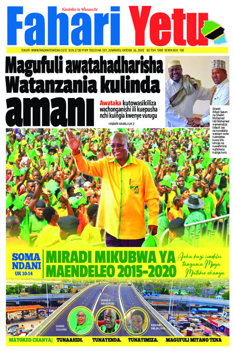Magufuli awatahadharisha Watanzania kulinda Amani | Fahari Yetu