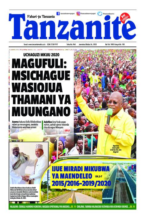 MAGUFULI: MSICHAGUE WASIOJUA THAMANI YA MUUNGANO | Tanzanite
