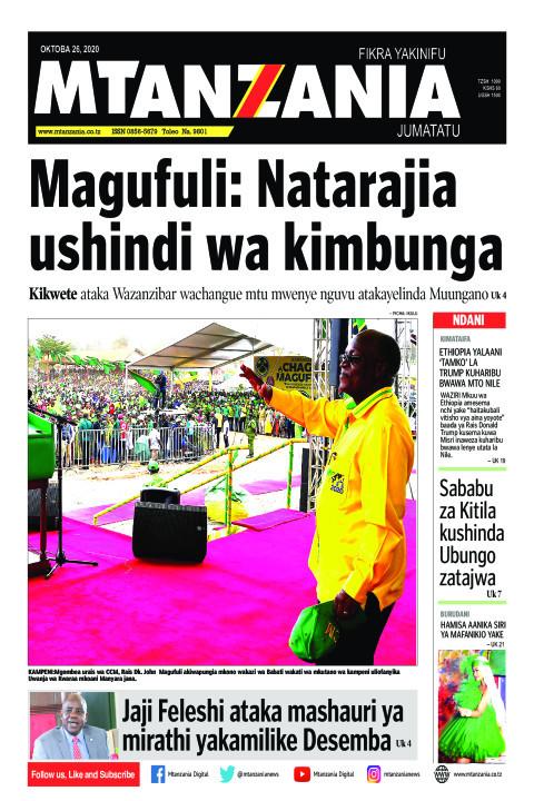 Magufuli: Natarajia ushindi wa kimbunga | Mtanzania