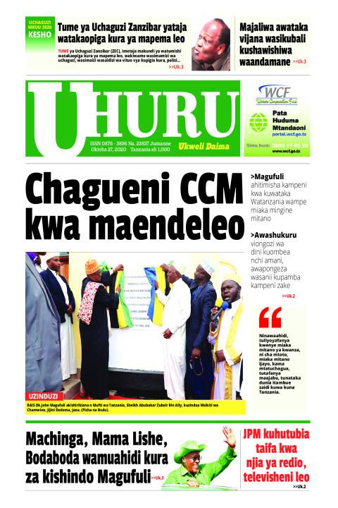 Chagueni CCM kwa maendeleo | Uhuru