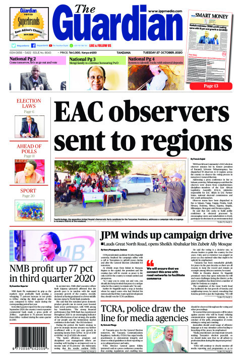 EAC observers sent to regions | The Guardian