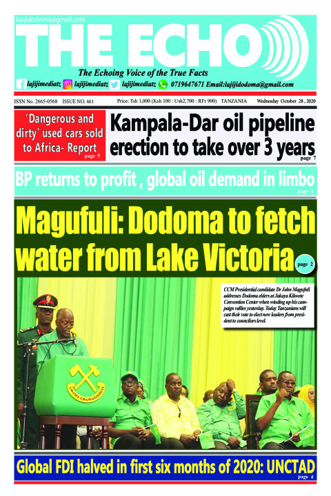 Magufuli: Dodoma to fetch water from Lake Victoria | The ECHO