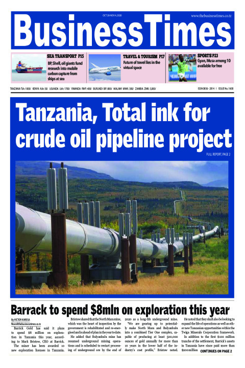 Tanzania, Total ink for crude oil pipeline project   Business Times