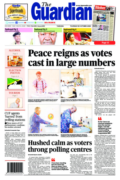 Peace reigns as votes cast in large numbers | The Guardian