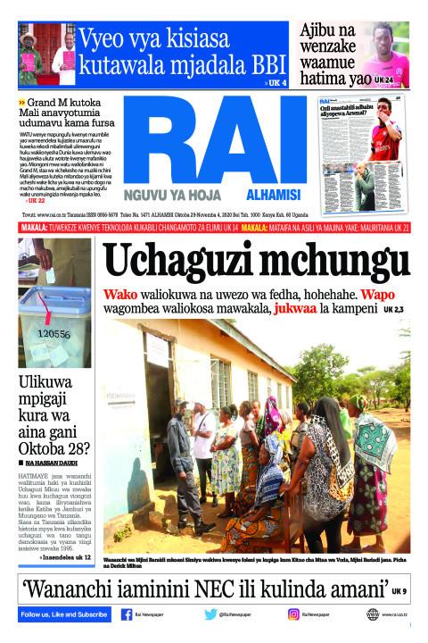 Uchaguzi mchungu | Rai