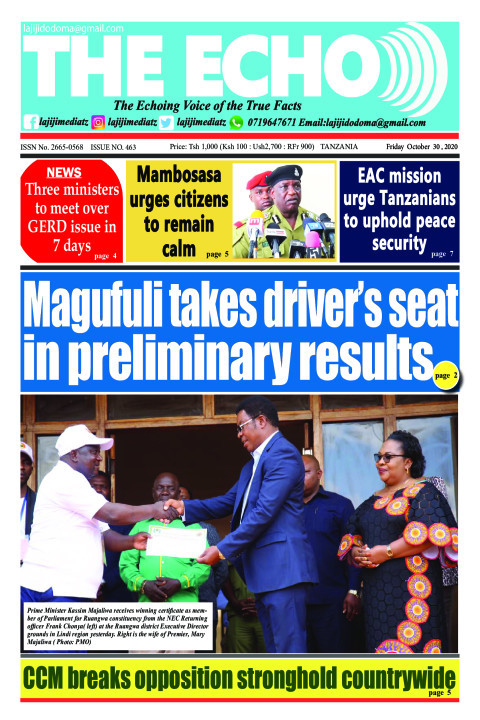 Magufuli takes driver's seat in preliminary results   The ECHO