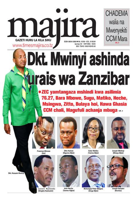 Dkt Mwinyi ashinda urais wa Zanzibar   MAJIRA