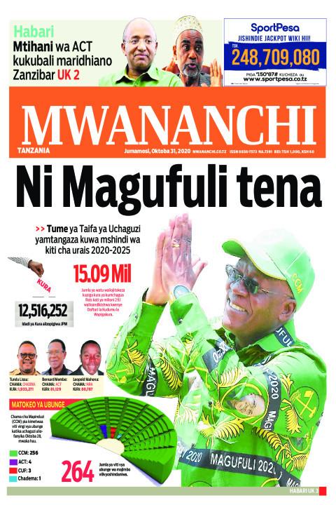 NI MAGUFULI TENA    Mwananchi
