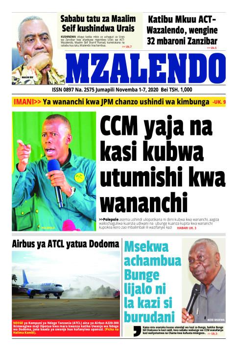 CCM yaja na kasi kubwa utumishi kwa wananchi | Mzalendo