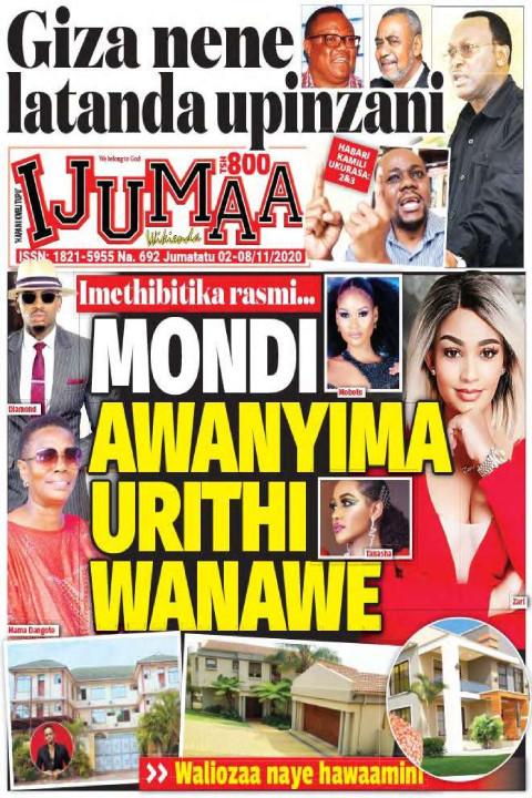 Mondi Awanyima Urithi Wanawe | Ijumaa Wikienda