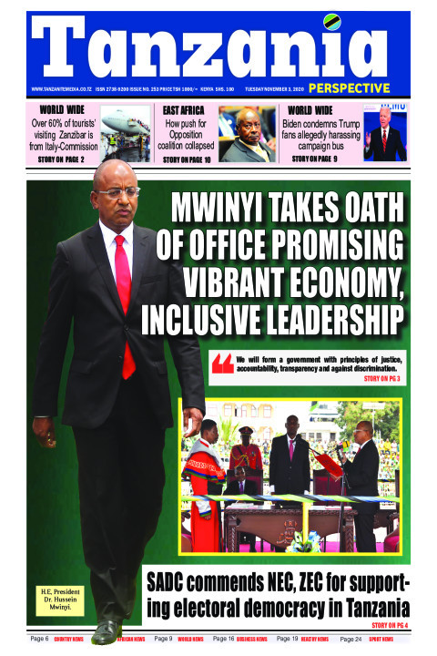 Mwinyi takes oath of office promising vibrant economy, inclu | Tanzania Perspective