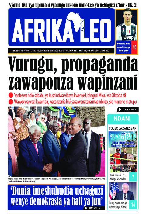 VURUGU, PROPAGANDA ZAWAPONZA WAPINZANI | AFRIKA LEO