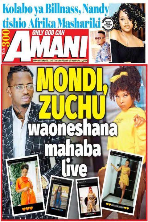 MONDI, ZZUCHU  waoneshana mahaba live | AMANI