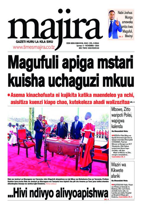 Magufuli apiga mstari kuisha uchaguzi mkuu | MAJIRA