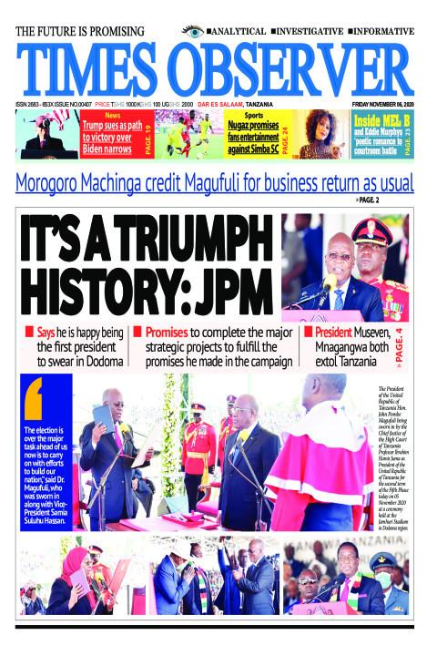 IT'S A TRIUMPH HISTORY: JPM | Times Observer