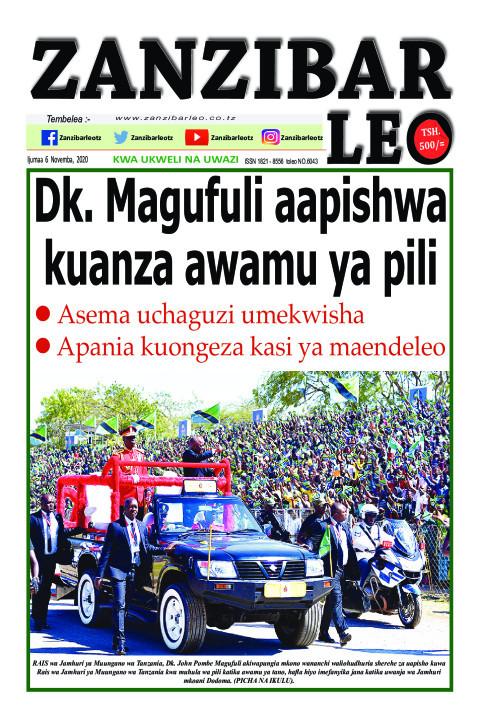 Dk. Magufuli aapishwa kuanza awamu ya pili | ZANZIBAR LEO
