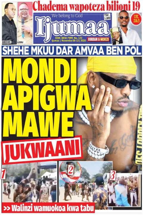 MONDI APIGWA MAWE JUKWAANI | Ijumaa Ijumaa