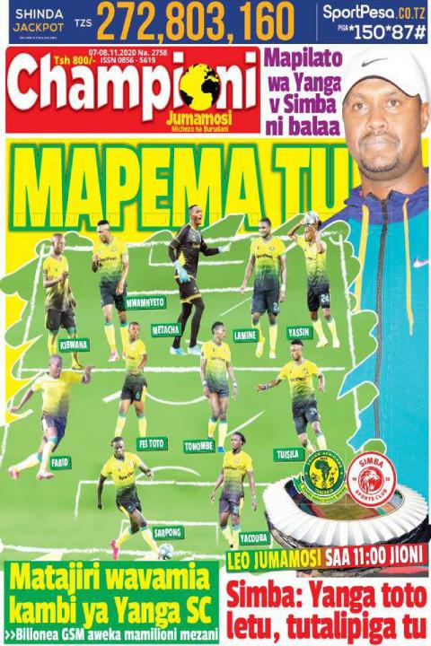 MAPEMA TU | Champion Jumamosi