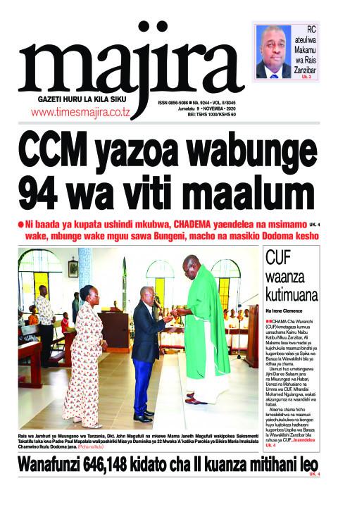 CCM yazoa wabunge 94 wa viti maalum | MAJIRA