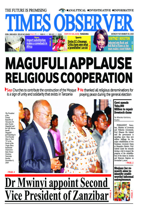 MAGUFULI APPLAUSE RELIGIOUS COOPERATION | Times Observer