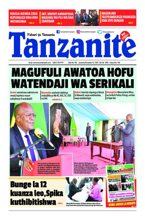 MAGUFULI AWATOA HOFU WATENDAJI WA SERIKALI | Tanzanite