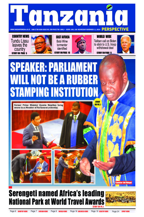 Speaker: Parliament will not be a rubber stamping institutio | Tanzania Perspective