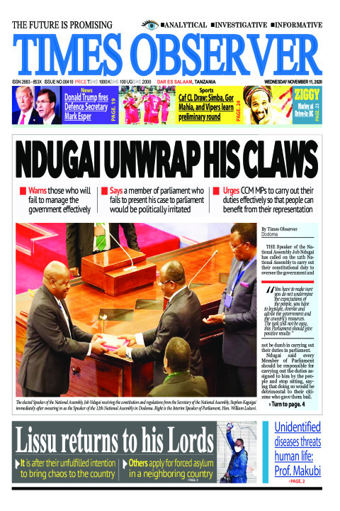 NDUGAI UNWRAP HIS CLAWS | Times Observer