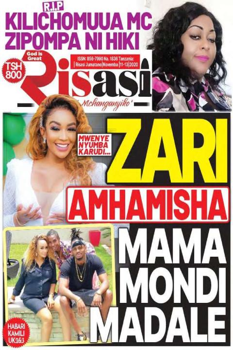ZARI AMHAMISHA MAMA MONDI MADALE | Risasi Mchanganyiko