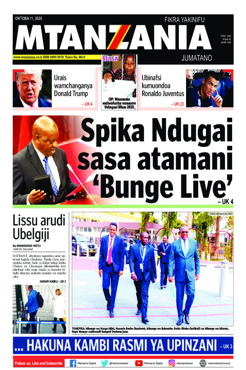 Spika Ndugai sasa atamani 'Bunge Live' | Mtanzania