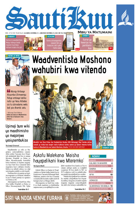 Waadventista Moshono wahubiri kwa vitendo | Sauti Kuu Newspaper