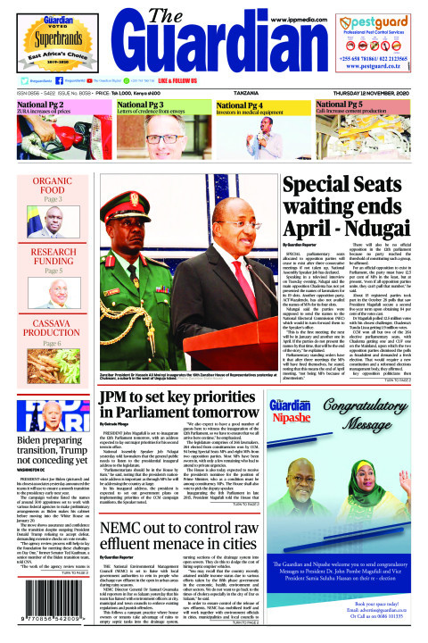 Special sits waiting ends  April-Ndugai   The Guardian