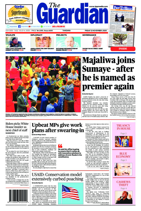Majaliwa joins Sumaye - after he is named as premier again   The Guardian