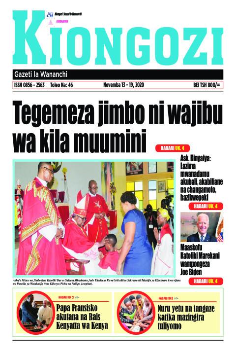 Tegemeza jimbo ni wajibu wa kila muumini | Kiongozi