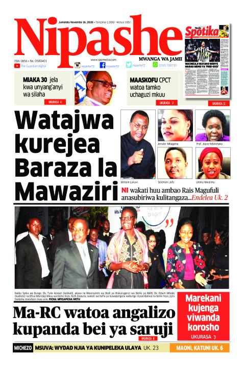 Watajwa kurejea Baraza la Mawaziri | Nipashe