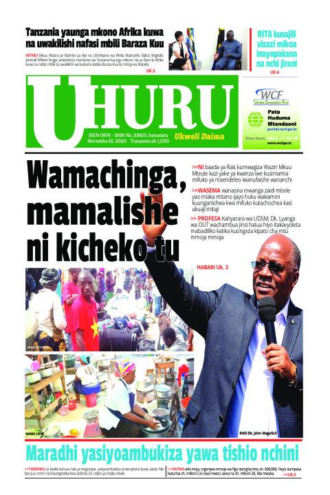 Wamachinga, mamalishe ni kicheko tu | Uhuru