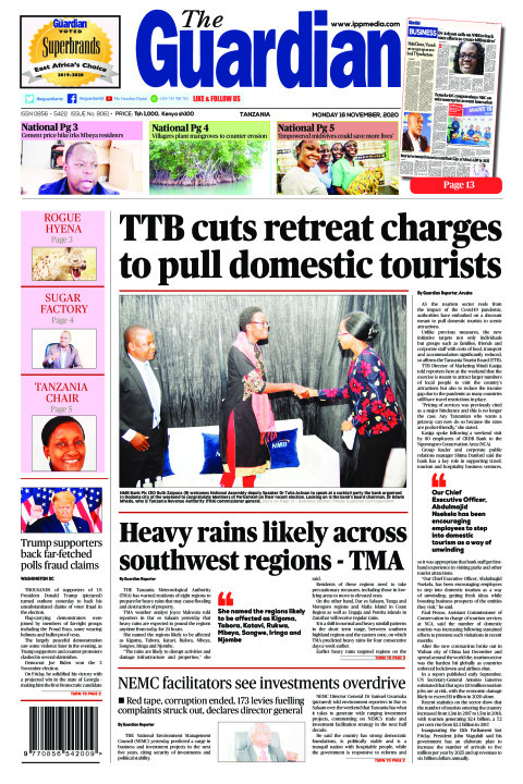 TTB cuts retreat charges to pull domestic tourists   The Guardian
