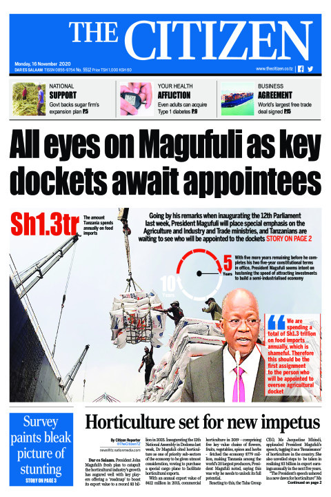ALL EYES ON MAGUFULI AS KEY DOCKETS AWAIT APPOINTEES  | The Citizen