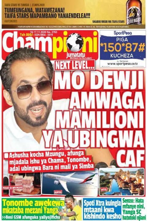 MO DEWJI AMWAGA MAMILIONI YA UBINGWA CAF | Champion Jumatatu