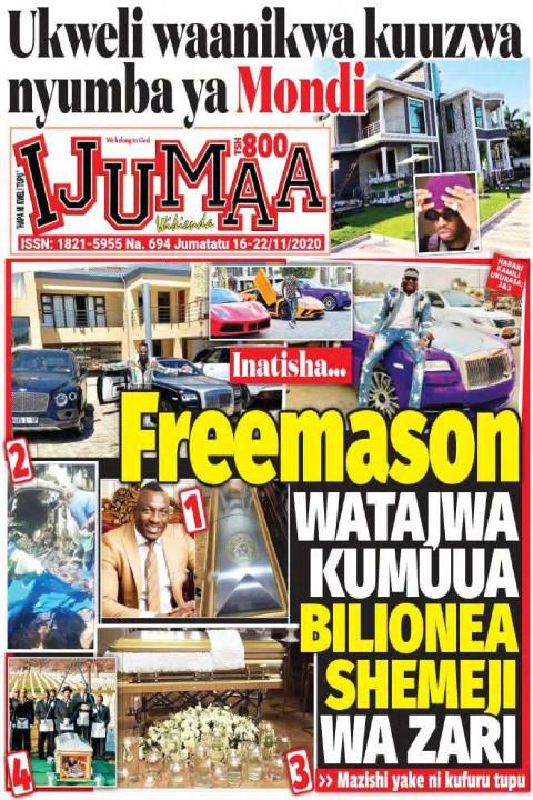 freemason WATAJWA KUMUUA BILIONEA SHEMEJI WA ZARI | Ijumaa Wikienda