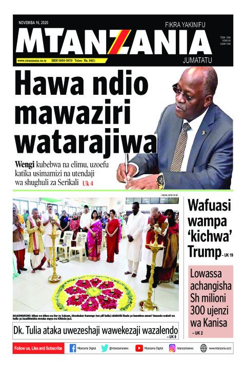 Hawa ndio mawaziri watarajiwa | Mtanzania