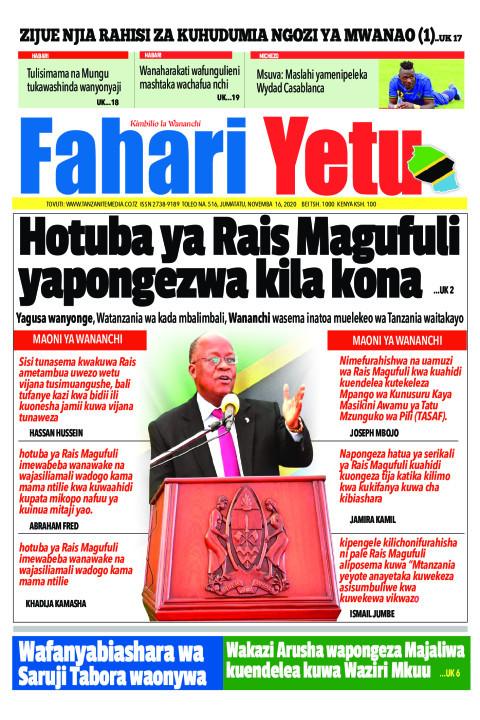 Hotuba ya Rais Magufuli yapongezwa kila kona | Tanzanite
