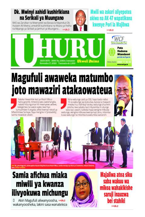 Magufuli awaweka matumbo joto mawaziri atakao wateuwa | Uhuru