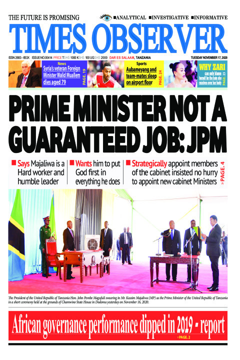 PRIME MINISTER NOT A GUARANTEED JOB: JPM | Times Observer
