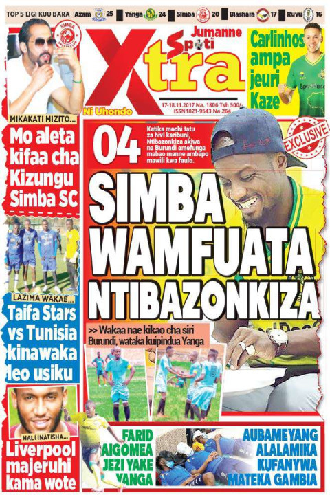 SIMBA WAMFUATA MTIAZONKIZA | SpotiXtra Alhamis