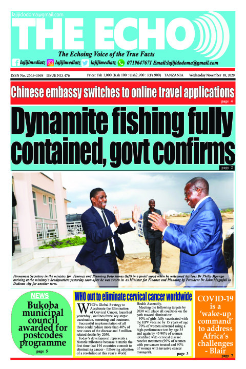 Dynamite fishing fully contained, govt confirms | The ECHO