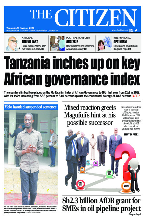TANZANIA INCHES UP ON KEY AFRICAN GOVERNANCE INDEX  | The Citizen